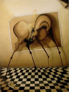 "Serie ""Cornipedes"" Öl auf Leinwand 80x90   2014   N0002"