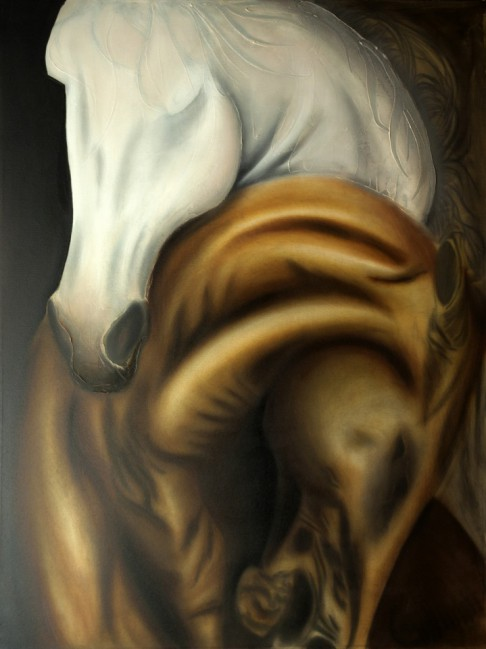 Amor Ciego | Serie Cornipedes | Oil on Canvas