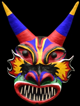 Yares Teufel Maske | Gips und Draht | 2015