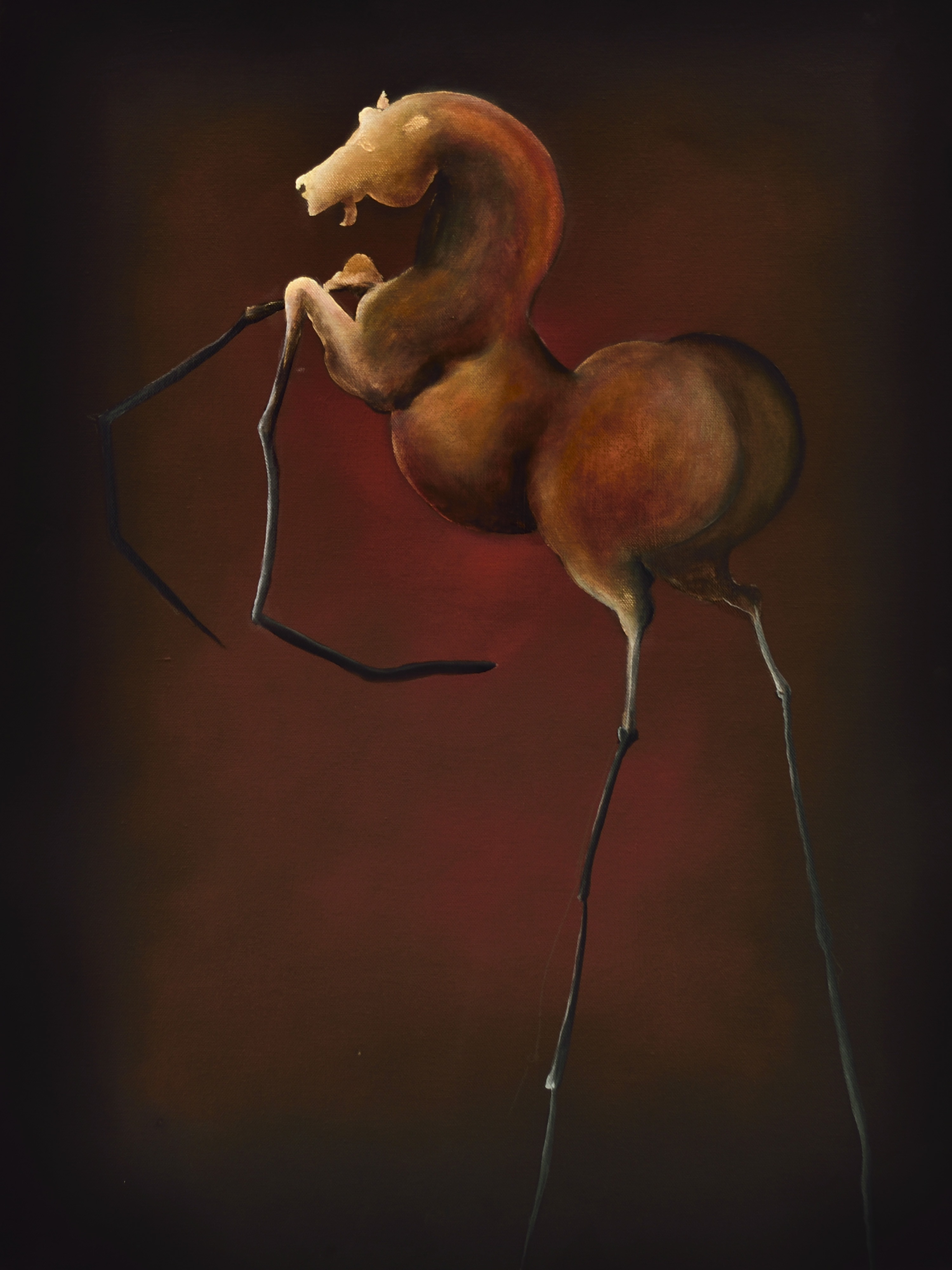 Checkmate | Oil on Canvas | Serie Cornipedes