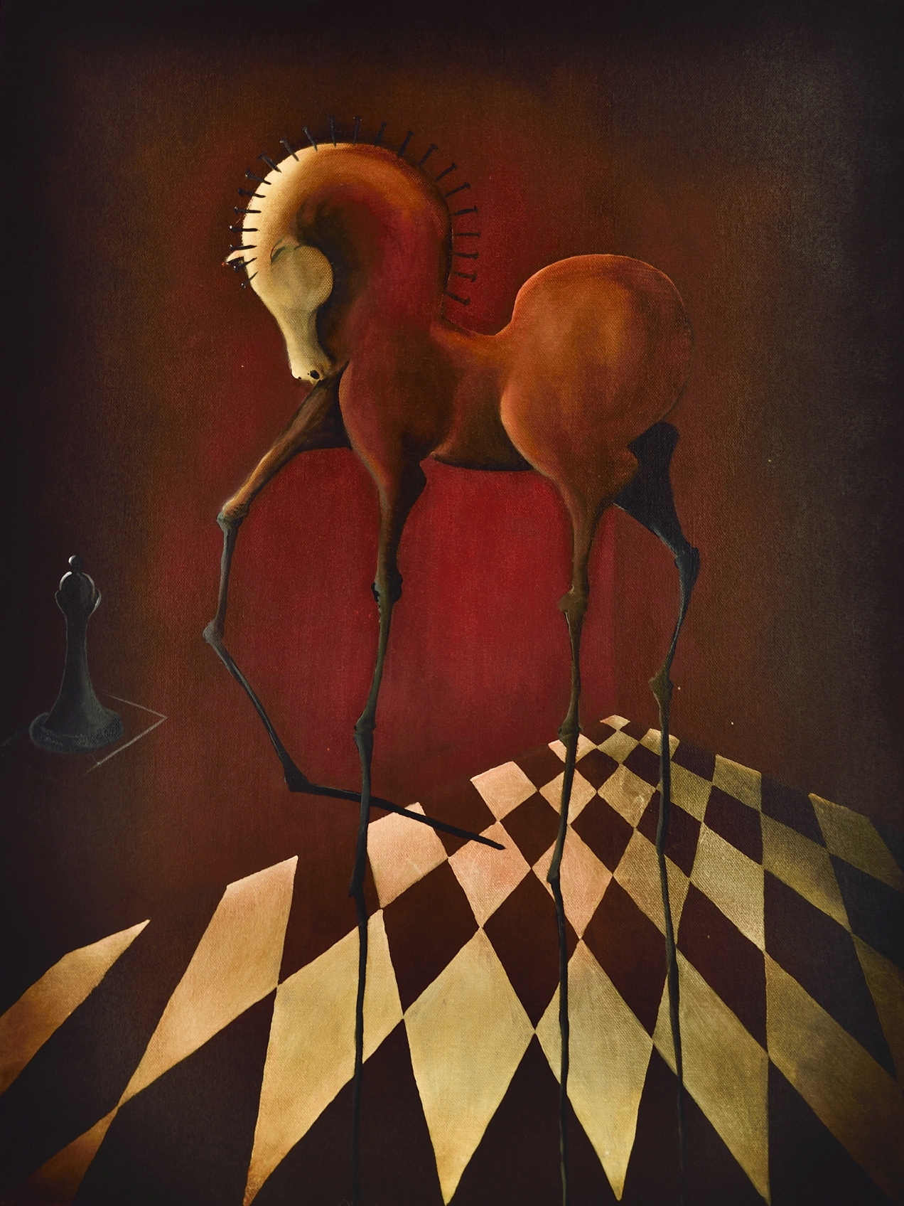 "Die Quadriga Serie ""Cornipedes"" | Öl auf Leinwand | 2014 | Adelso Bausdorf"