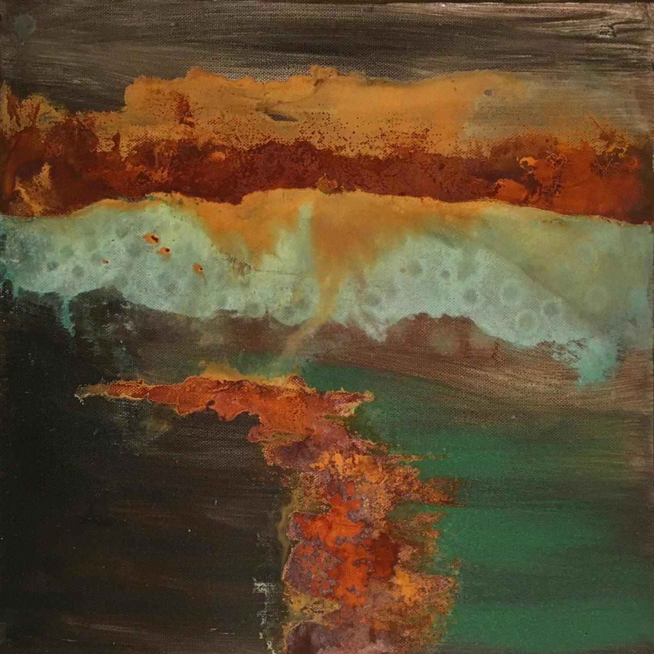 Essay «Color-Texture-Contrast» N°11 | Mixed Technique on Canvas