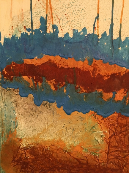 Essay «Color-Texture-Contrast» N°15   Mixed Technique on Canvas