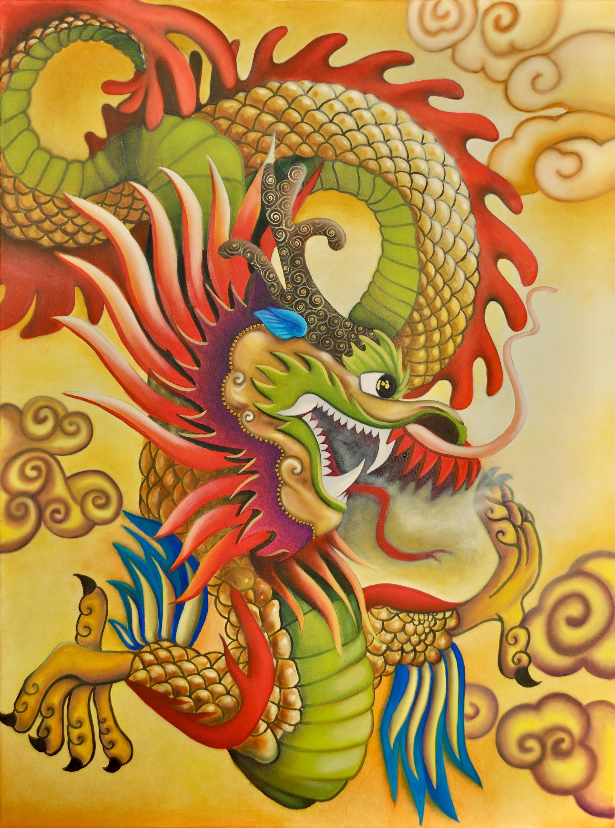 goldener drache by adelso bausdorf
