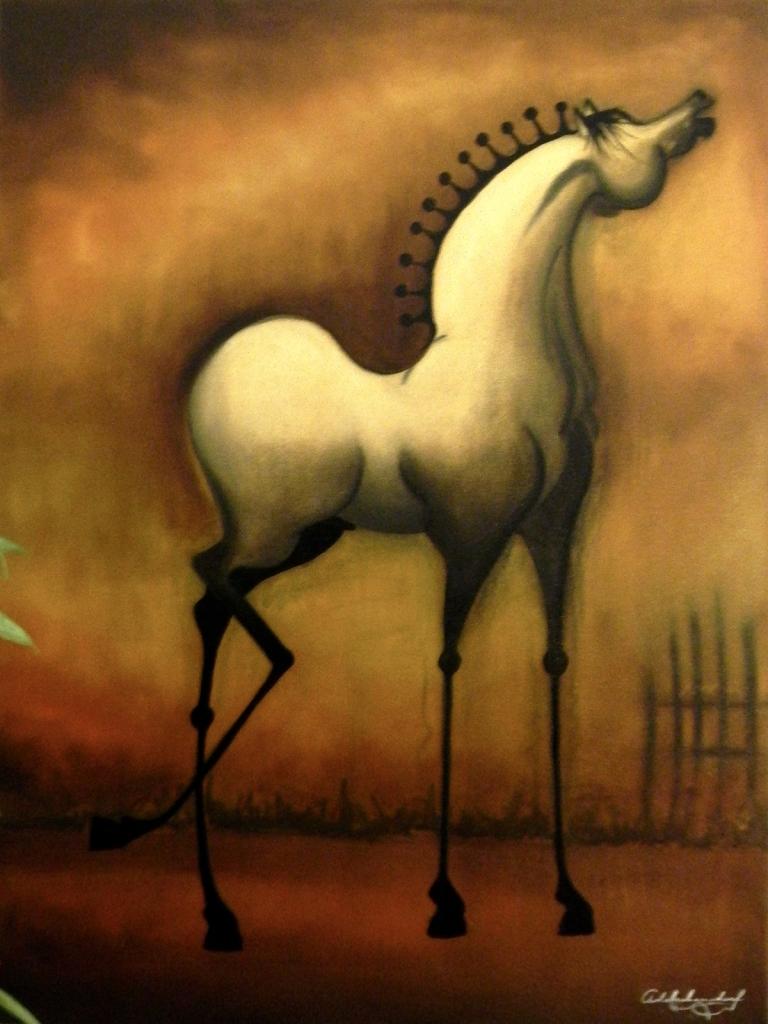 Graphic Interpretation of HorsesSerie Cornipedes Oil on Canvas 60cm x 80cm 2015