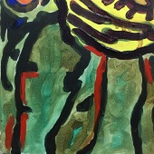 Egos Oil on canvas and Acryl 40cm x 40cm 2018