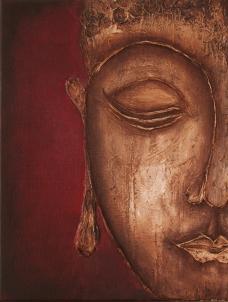 Buddha Portait mit Paste texturen