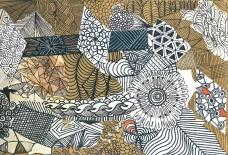 Meditation über Linien und Komposition mit Mustern