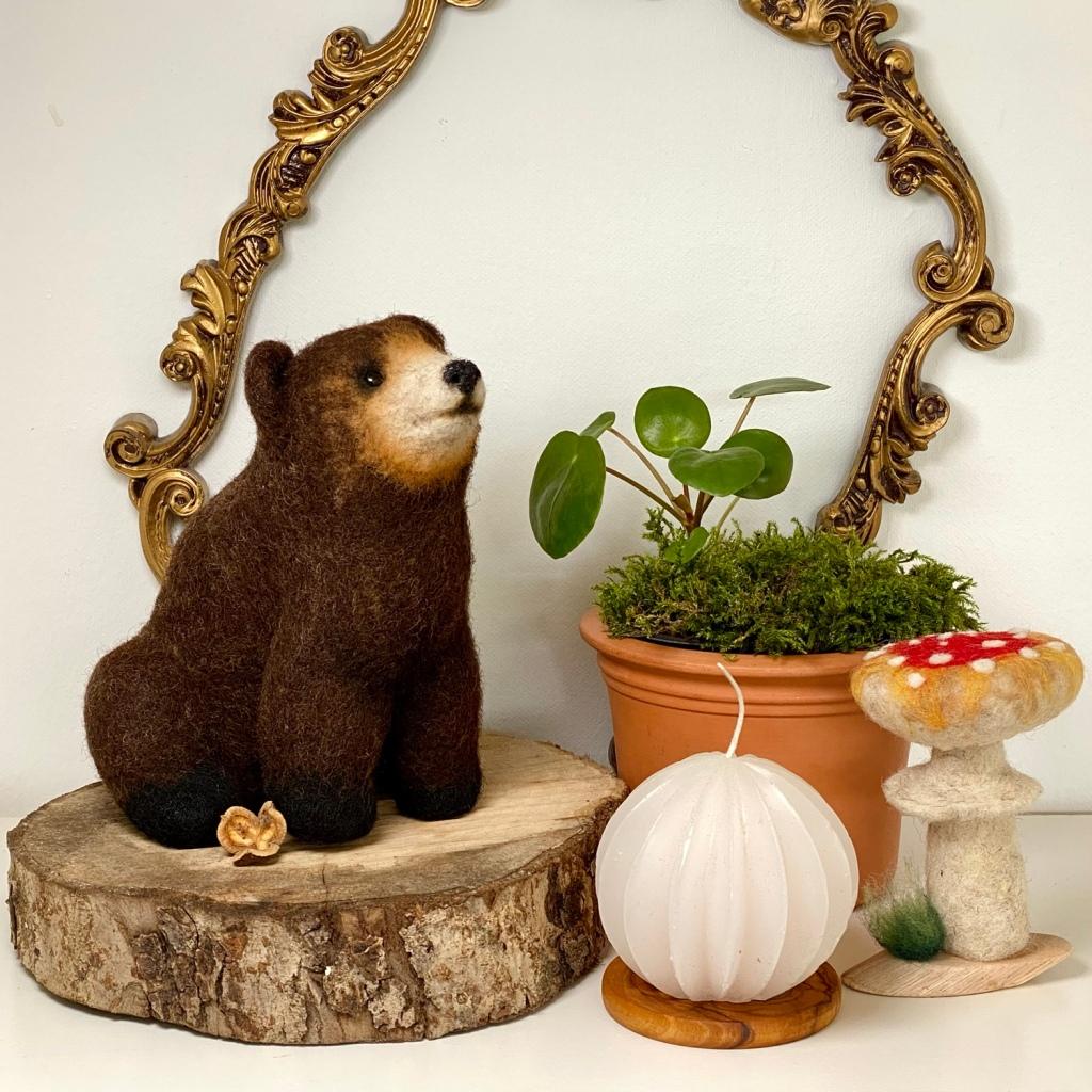 schokoladenbrauner Teddybär